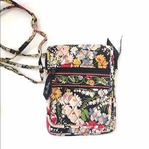 Vera Bradley Red Poppy Fields Floral Crossbody Bag